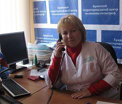 Медсестра отделения экстренной консультативной помощи и диспетчер отделения С. А. Будяк