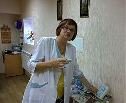 Заведующая центром здоровья Людмила Руденко